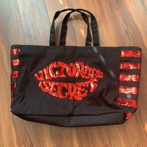 Very cute and glam large Victoria's Secret tote